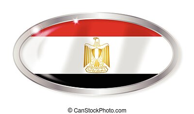 Egypt Flag Oval Button