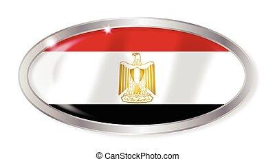 Egypt Flag Oval Button