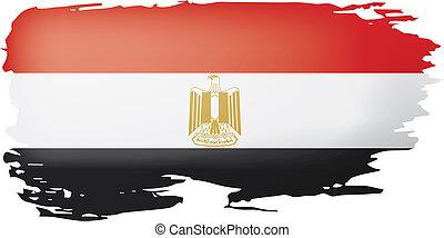 Egypt flag, vector illustration on a white background.