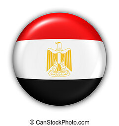 World Flag Button Series - Africa/Middle East - Egypt (With Clipping Path)