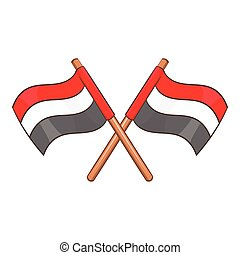 Egypt flags icon, cartoon style