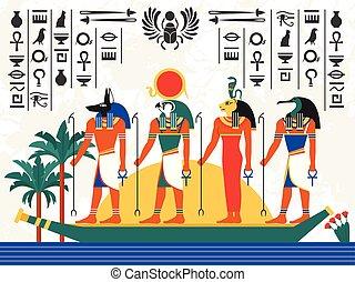 Egypt Flat Colorful Illustration