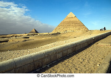 Egypt. Giza. View of the pyramids.