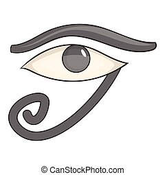 Egypt god Ra symbol icon, cartoon style