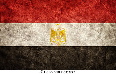 Egypt grunge flag. Item from my vintage, retro flags...
