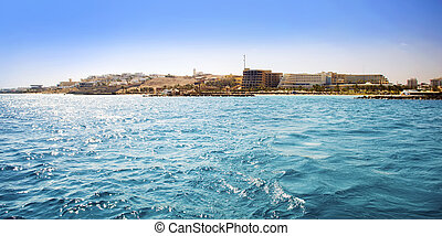 Egypt. Hurghada. View from the sea.