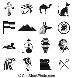 Egypt icons black