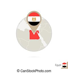 Vector Clipart Of United Arab Emirates Map And Flag In Circle Map - Map of egypt and uae