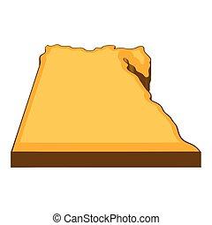 Egypt map icon, cartoon style
