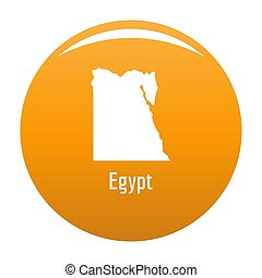 Egypt map in black simple