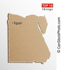 Egypt map vector. Egyptian maps craft paper texture. Empty template information creative design element.