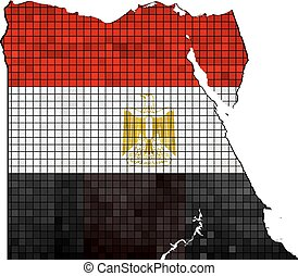 Egypt map with flag inside