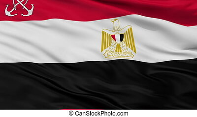 Egypt Naval Ensign Flag Closeup Seamless Loop - Naval Ensign...
