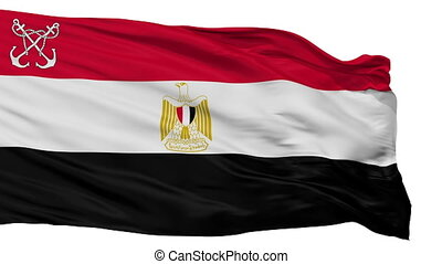 Egypt Naval Ensign Flag Isolated Seamless Loop - Naval ...