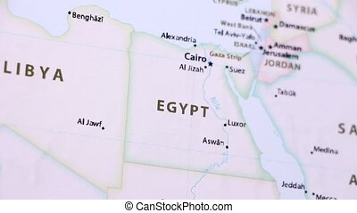 Egypt on a Map