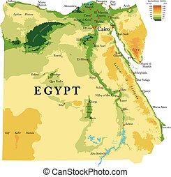 Egypt physical map