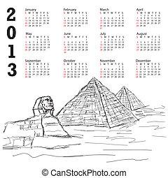 egypt pyramid 2013 calendar