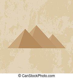 Egypt pyramid grunge background
