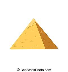 Egypt pyramid, symbol of ancient Egypt vector Illustration