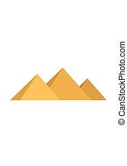 Egypt pyramids Giza isolated on white background. Vector illustration