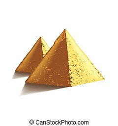 Egypt pyramids isolated on white vector