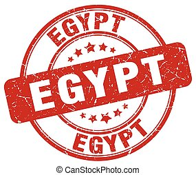 Egypt red grunge round vintage rubber stamp