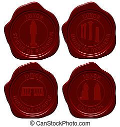 Egypt sealing wax stamp set