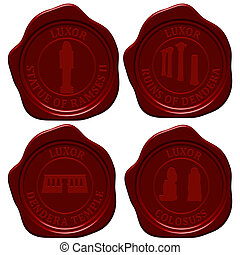 Egypt sealing wax stamp set for design use. Vector...