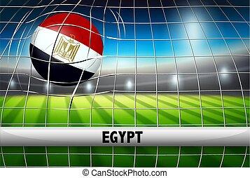Egypt soccer ball flag