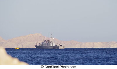 Boat Floats in the Red Sea
