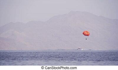 Parasailing, Parasailing Behind a Boat - EGYPT, SOUTH SINAI,...