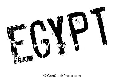 Egypt stamp rubber grunge