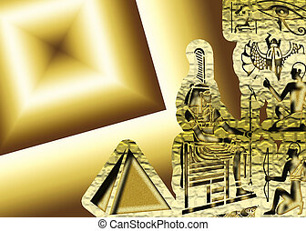 Egypt symbol and piramid