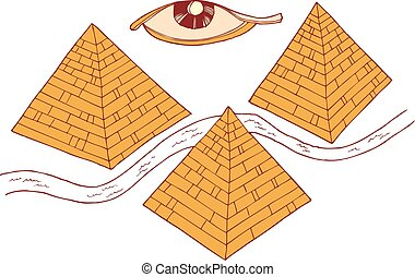 Egypt symbols and Pyramids vector illustration eps 10