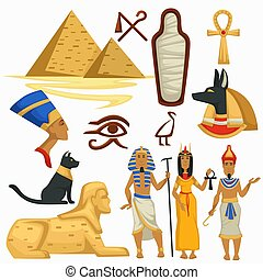 Egypt symbols traveling Pyramids and Sphinx Egyptian culture