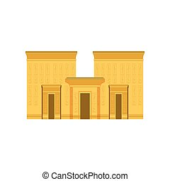 Egypt temple, ancient Egyptian building vector Illustration
