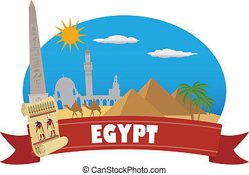 egypt., tourisme, et, voyage