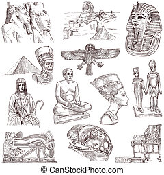 Egypt travel - An hand drawn pack - Travel series: EGYPT -...