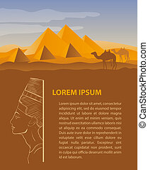 Egypt travel design template