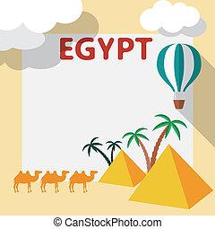 Egypt Travel flat design illustration