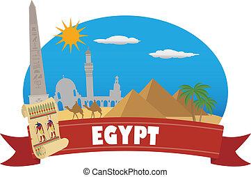 egypt., turismo, y, viaje