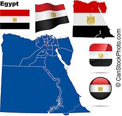 Egypt vector set.