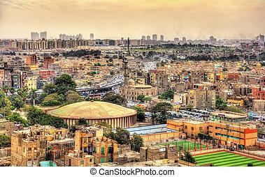 egypte, caïro citadel, -, aanzicht
