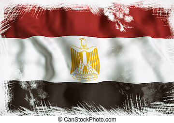 egypte, drapeau ondulant