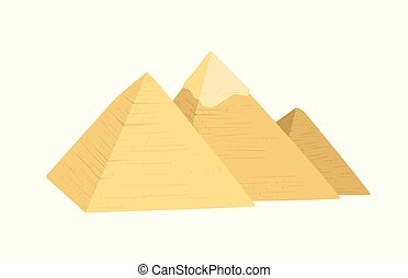 egypte, illustration, pyramides
