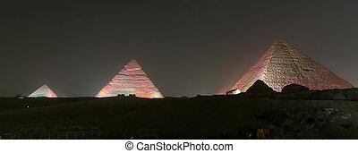 egypte, piramide, complex, cairo, giza