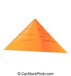 Egypte pyramide icon. Cartoon of Egypte pyramide icon for web design isolated on white background