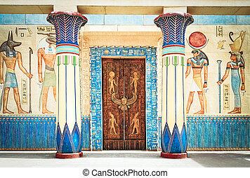 egypte, schrijvende , steen, oud, egyptisch