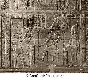 egypte, soulagement, chnum, temple