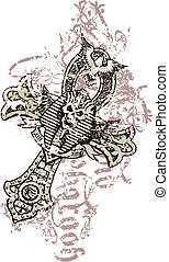egypte, style, crâne
